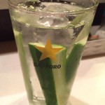 堀切菖蒲園「ふっ子(居酒屋)」二度美味しいカッパハイ300円とバラエティ豊かなお通し300円に大満足!
