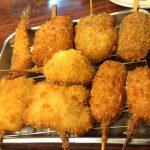 大阪-新世界「串かつ 花道」カツカレーにキンツバ!?変り種串かつにワクワクする穴場の串かつ屋