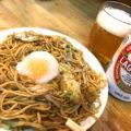 渋谷「やきそば屋」焼きそばで昼からサクっと一杯!ウインズ渋谷正面の立ち食い焼きそば